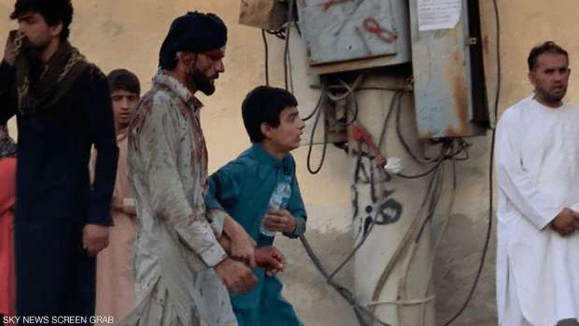 آثار هجوم مطار كابول