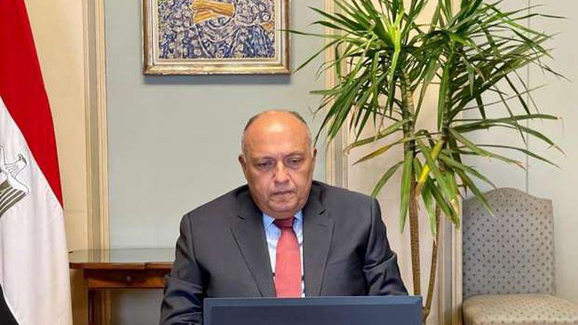 وزير الخارجية سامح شكري خلال الاجتماع