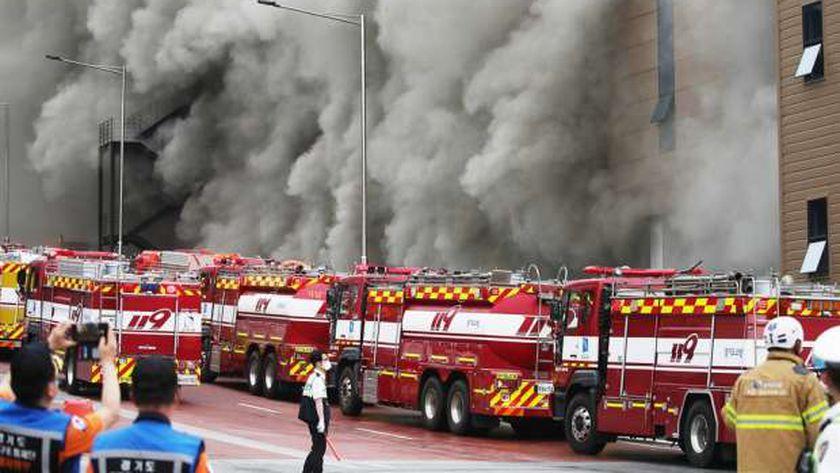 حريق في مركز توزيع لتابع لشركة «كوبانج» بكوريا الجنوبية
