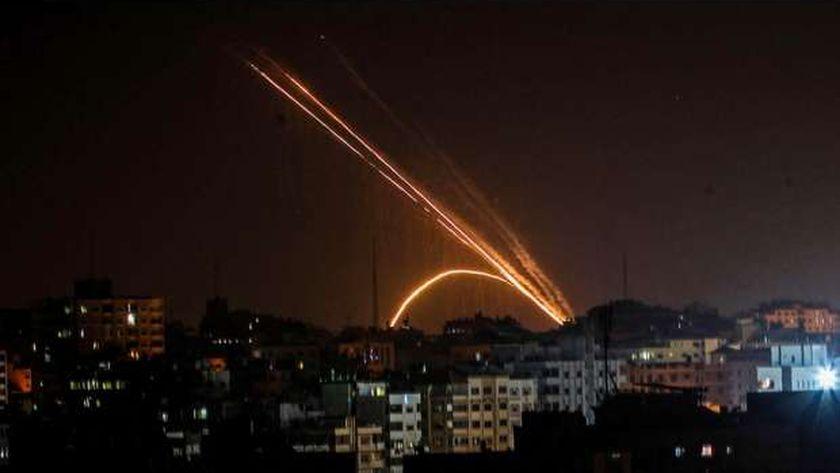صورة صواريخ تزعم إسرائيل إطلاقها من غزة