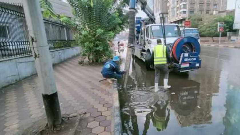 تساقط الأمطار على عدد من المحافظات اليوم