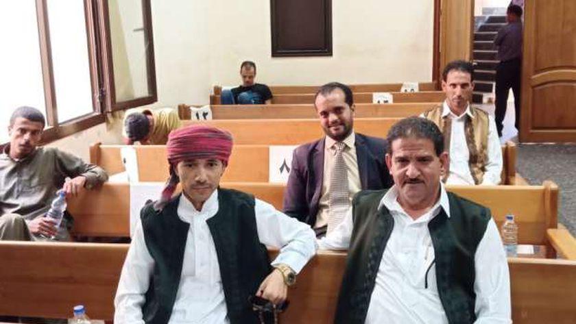 جانب من المرشحين لمجلس النواب فى مقر اللجنة العامة للإنتخابات بمحكمة مرسى مطروح الإبتدائية