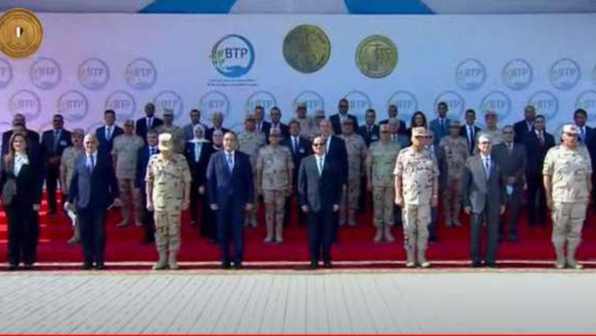 الرئيس السيسي خلال افتتاح محطة بحر البقر