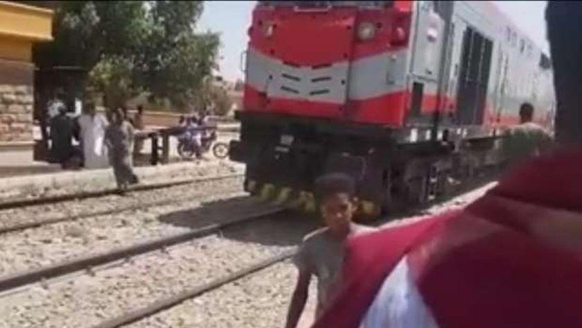 توقف القطار بنجع ونس