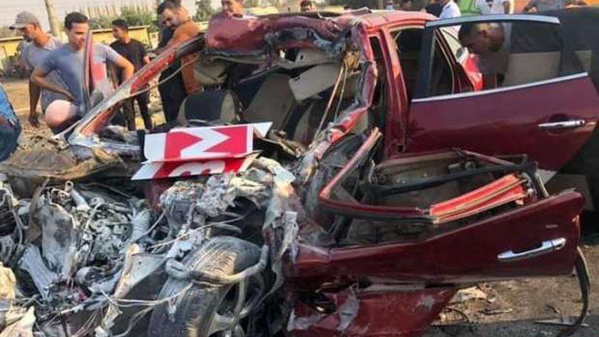 مصرع أسرة كاملة في حادث طريق الإسماعيلية الصحراوي
