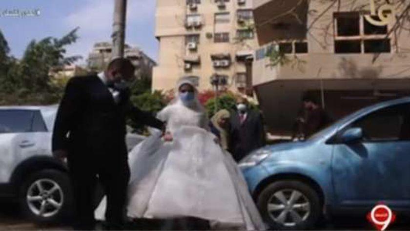 العروسين مصطفى ونهى