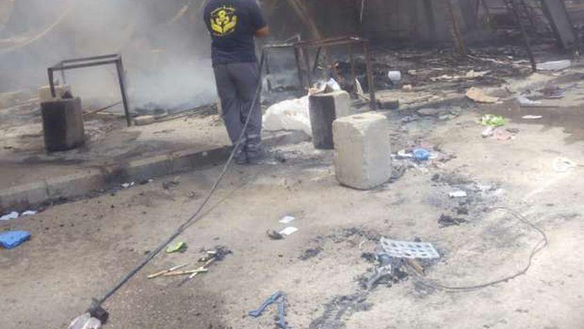 حريق سوق توشكى