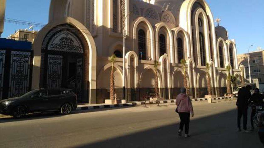 كنيسة الانبا موسي بعد اعادة اعمارها