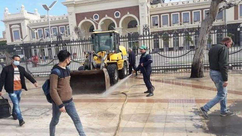 رفع الإشغالات من محطة مصر
