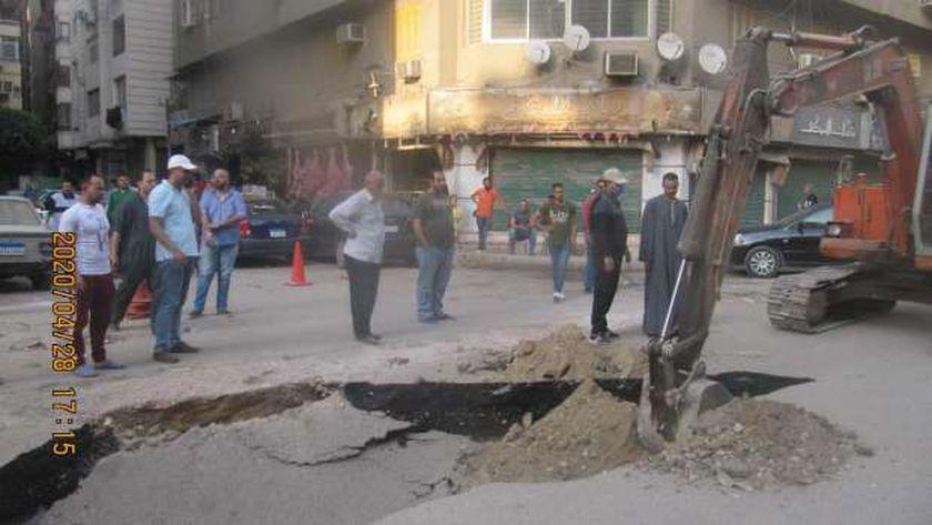 محافظ القاهرة: الهبوط الارضى بحدائق القبة نتيجة أعمال حفر