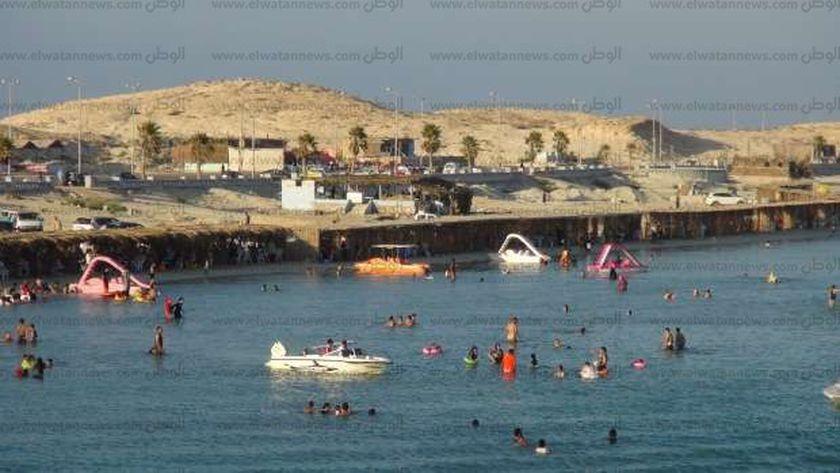 شاطىء الفيروز بمدينة مرسى مطروح