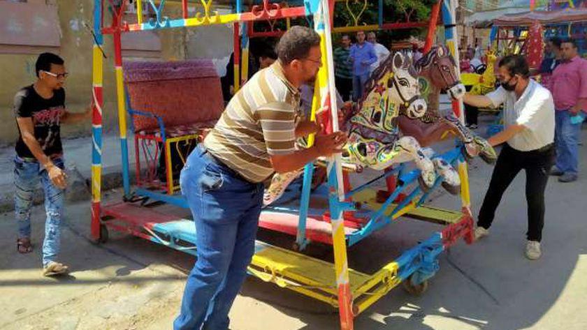 بالصور: بعد ركوب المراجيح بالخفاء..لأول مرة ساحة أبو العباس بلا مراجيح