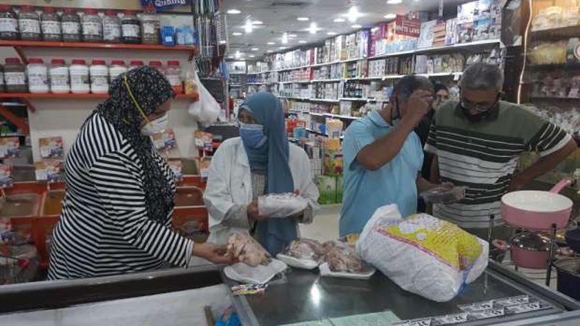 حملة علي المحلات في الدقهلية