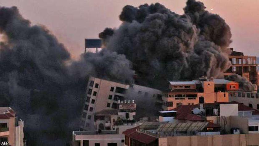 آثار القصف على قطاع غزة اليوم