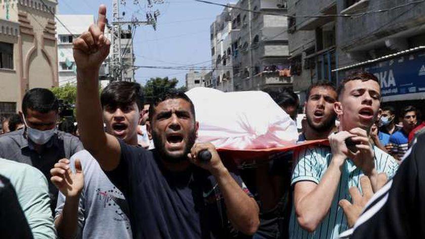 جنازة شهيد بقطاع غزة الفلسطيني