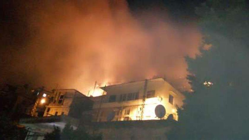 حريق في جبل شغرة