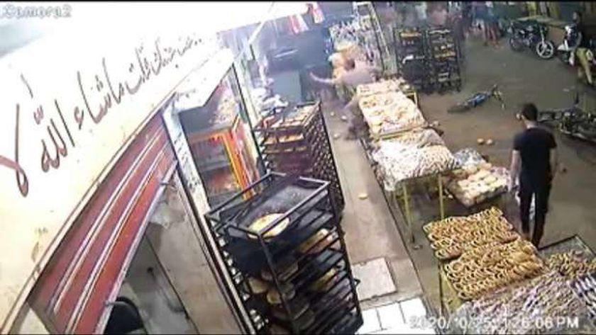 صورة من فيديو الواقعة