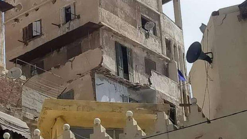 """انهيار عقار بـوراق العرب بالجيزة .. و""""راشد"""" يتوجه لمعاينة الأضرار -ارشيفية"""