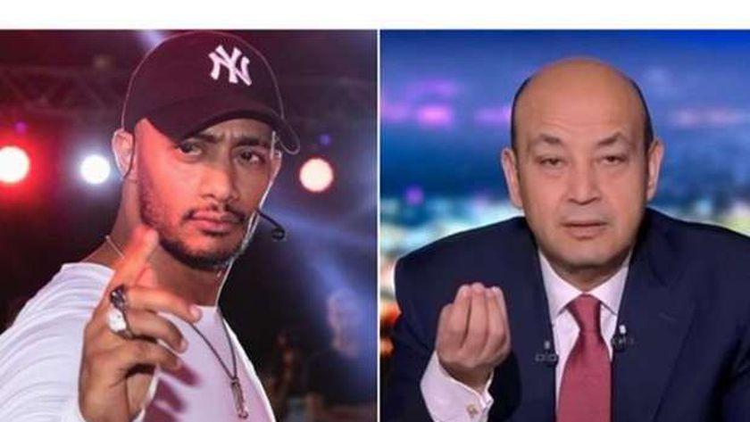 عمرو أديب ومحمد رمضان
