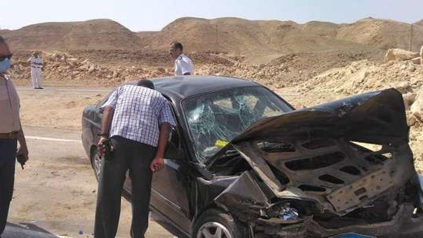 رئيس مدينة القصير يتابع حادث مروري