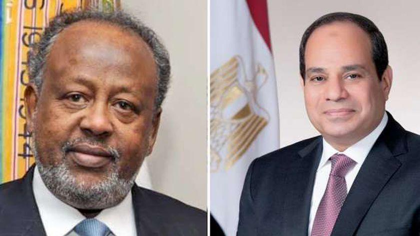 """السيسي  ورئيس جيبوتي"""" يناقشا مفاوضات السد الإثيوبي"""