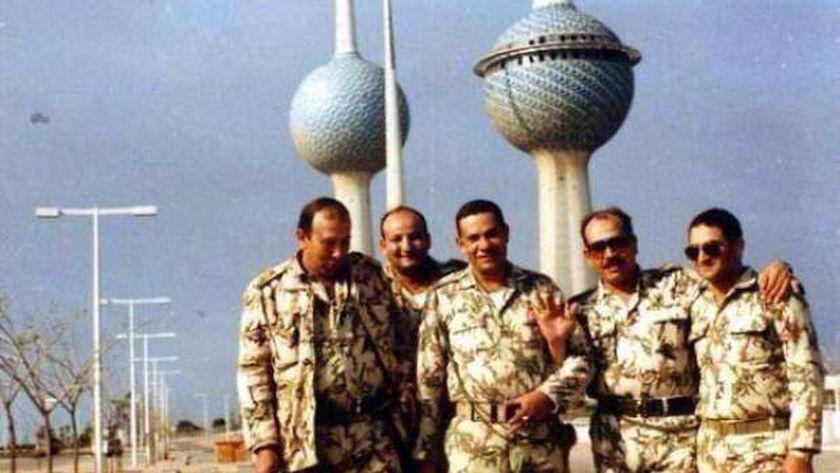 ضباط مصريون في الكويت بعد تحريرها-  ارشيفية