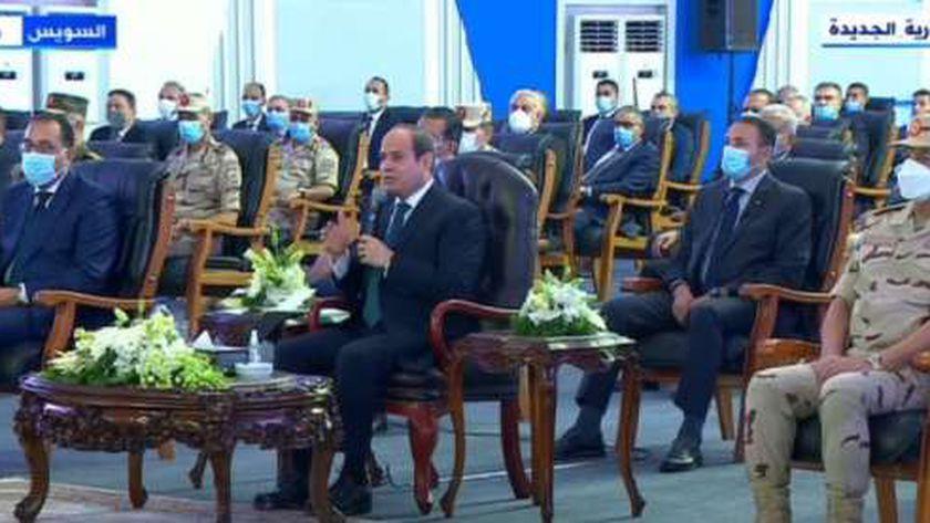 صورة السيسي: «أي حد مش حريص على الناس لن يكسب مهما كانت مهارته في التآمر» – مصر