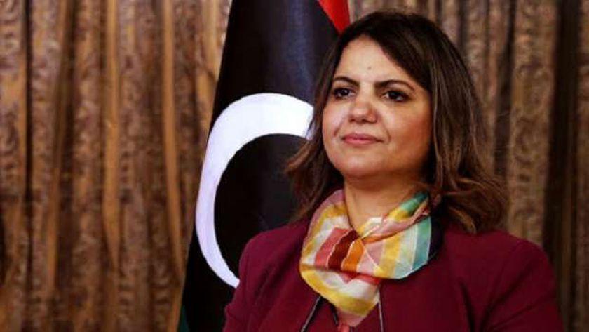 وزيرة الخارجية في الحكومة الانتقالية الليبية نجلاء المنقوش