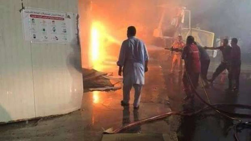 حريق مطار مصراتة