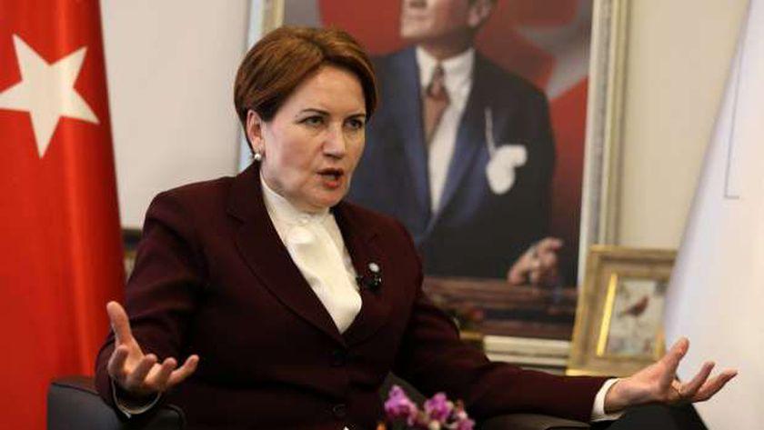 رئيسة حزب الخير التركي المعارض ميرال أكشنار