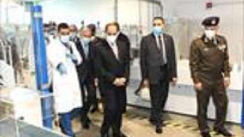 الرئيس السيسى خلال افتتاح مجمع الإصدارات المؤمَّنة والذكية