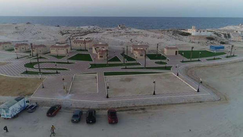 شاطىء روميل رمدينة مرسي مطروح بعد تطويرة