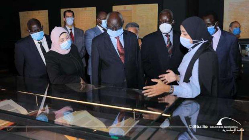 وزير التعليم العالي بدولة جنوب السودان في زيارة لمكتبة الإسكندرية