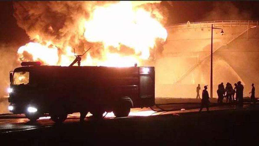 حريق هائل في ميناء أنكونا الإيطالي