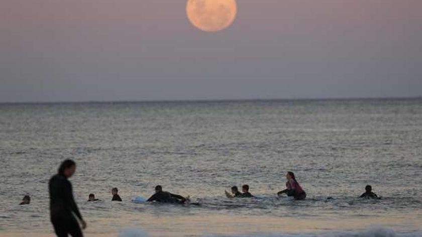 القمر الدموي العملاق يظهر في سماء سيدني