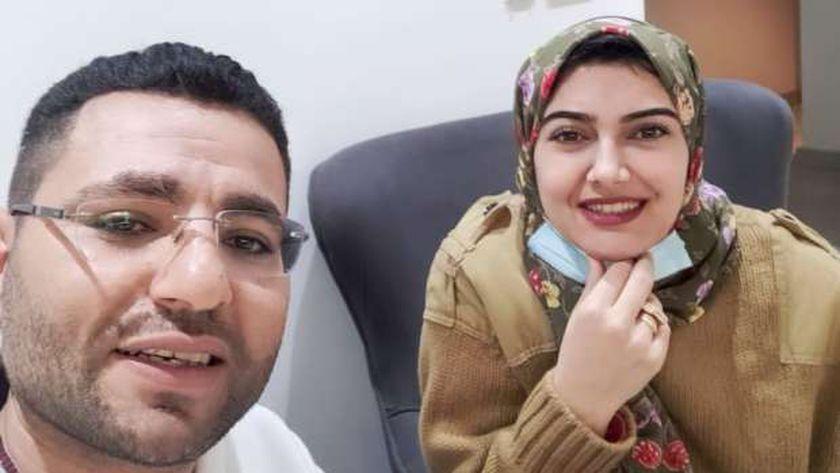 المهندس أحمد عاطف وزوجته