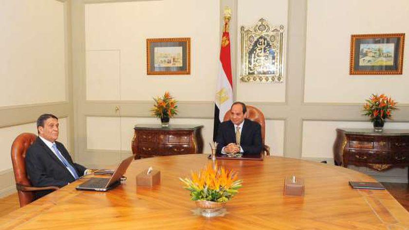 الرئيس السيسى خلال اجتماعه مع رئيس العاصمة الإدارية الجديدة