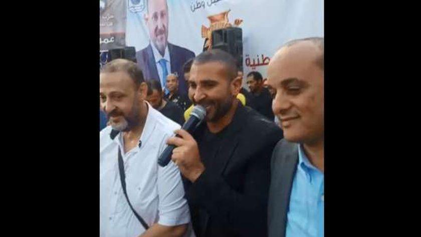 أحمد سعد بجوار عمر وطني وأمين مسعود