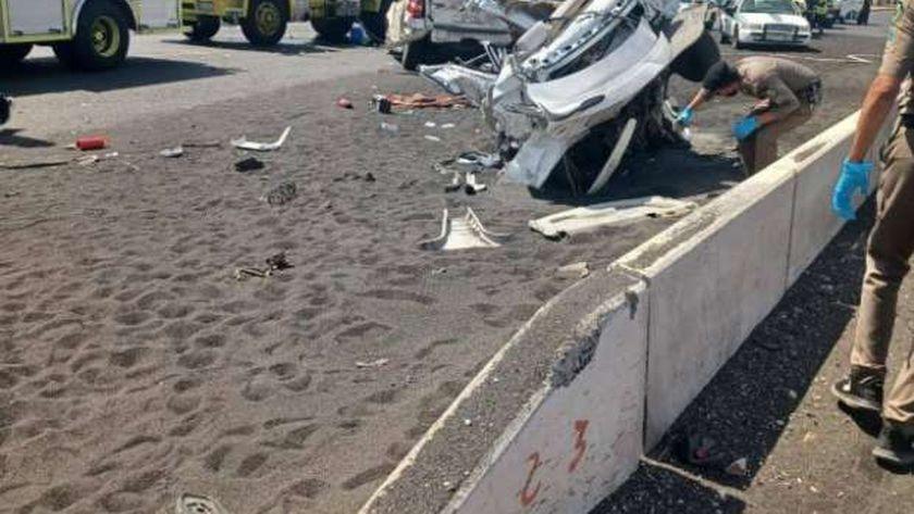 حادث مروري بالمدينة المنورة يقتل 4 أشخاص ويصيب 5