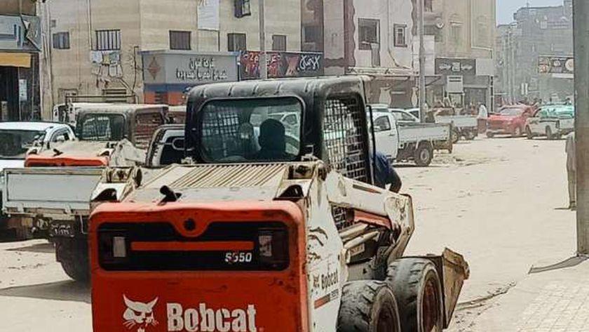 جانب من حملات النظافة في كفر الشيخ