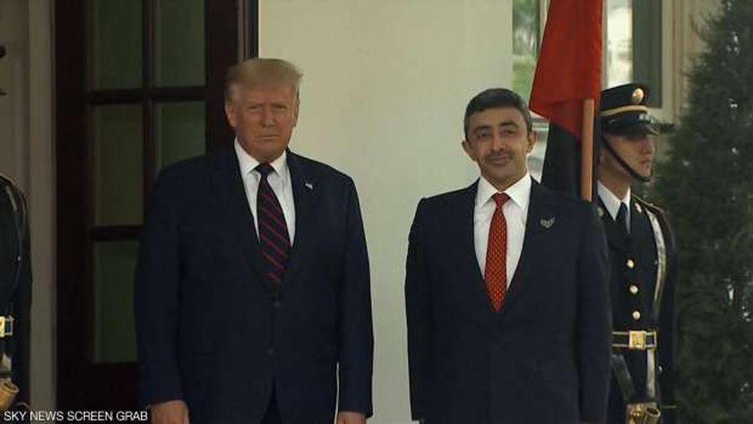 ترامب ووزير الخارجية الإماراتى