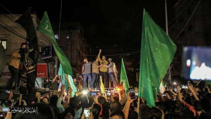مسيرات فلسطينية احتفالا بوقف اطلاق النار تؤكد انتصار المقاومة