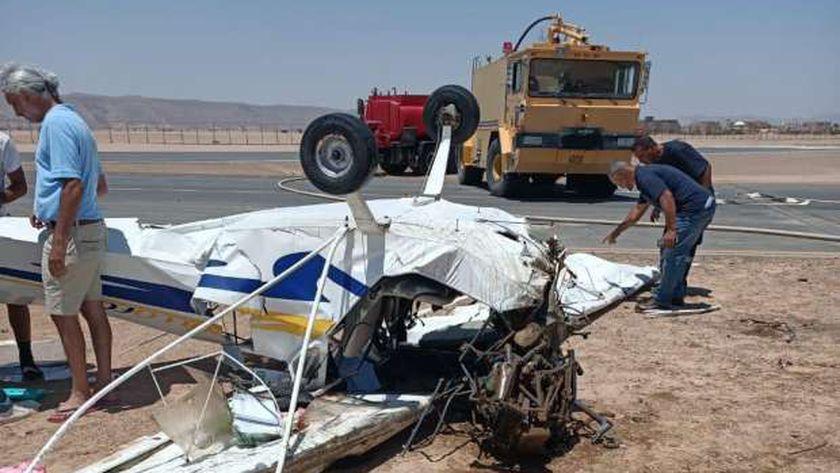 مصادر ملاحية : لجنة فنية لمعاينة حادث سقوط طائرة الجونه