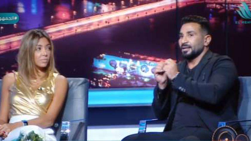 الفنان أحمد سعد وزوجته علياء بسيوني
