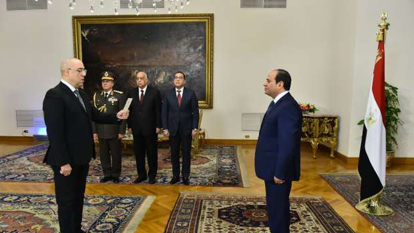 عاصم الجزار يؤدي اليمين الدستورية أمام الرئيس