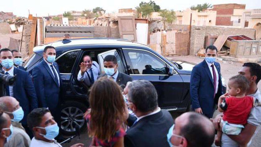 زيارة الرئيس السيسي الرويسات