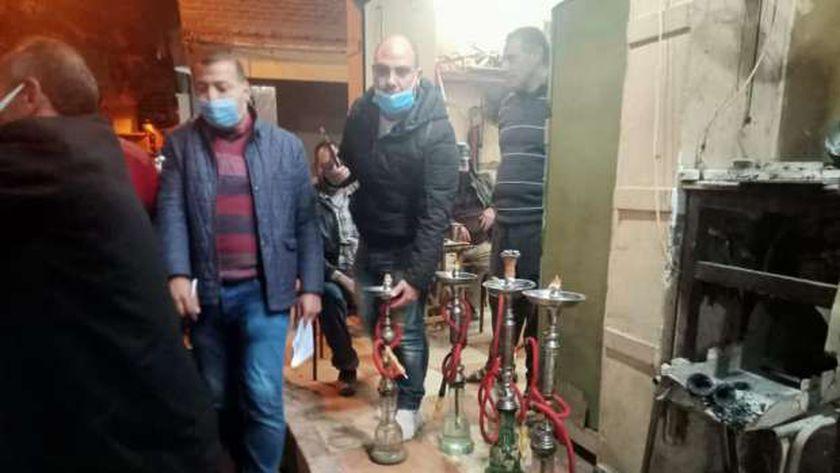 مصادرة نحو 50« شيشة»  في كفر الشيخ