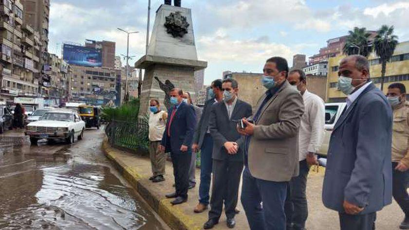 محافظالغربيةيتابع أعمال شفط مياه الأمطار