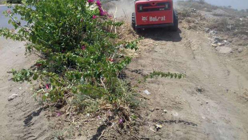 تواصل حملات النظافة بقرية الشغب جنوب الاقصر