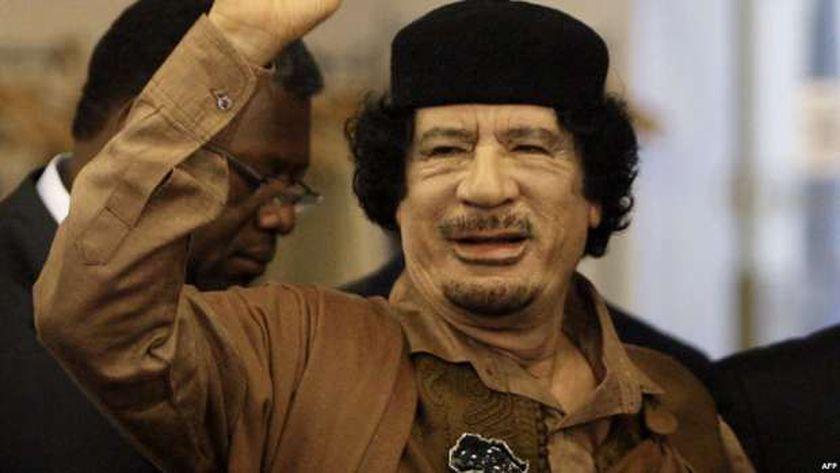 الرئيس الليبي الراحل معمر القذافي